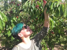 Oh look at me, I'm just picking cherries, all natural and stuff.