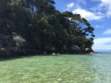 Kayaking along islands.