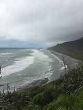 Grey coastline.