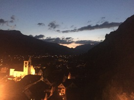 View of Sargans from the castle.