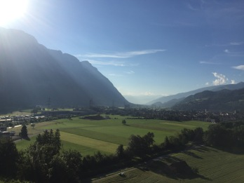 View from hotel in Flums, Switzerland