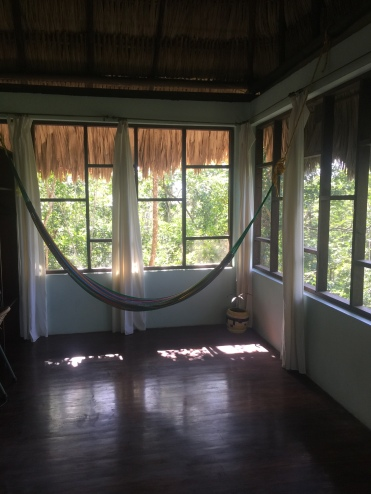 Hammock in mah room - GREAT for reading and watching the sunset
