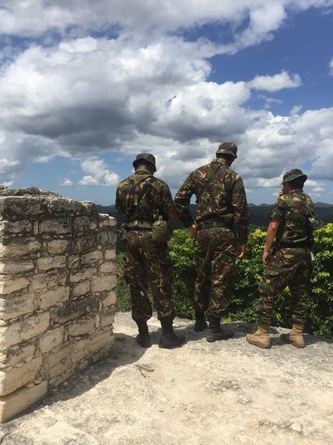 Belizean army walking around with massive rifles