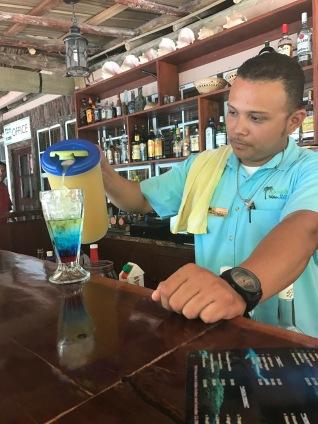 Alberto making one of his signature drinks