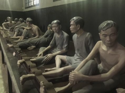Replicas of Vietnamese prisoners
